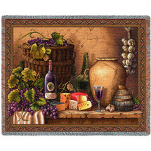 Wine Tasting Tapestry Throw