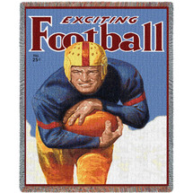 Sports - Power of West Point - Vintage Football Poster - Tapestry Throw