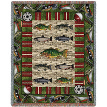 Gone Fishing - Psalm 23:2 - Tapestry Throw