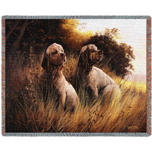 Clumber Spaniel - Robert May - Cotton Woven Blanket Throw - Made in the USA (72x54) Tapestry Throw