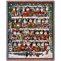 Will The Real Santa Clause - Bill Bell - Cotton Woven Blanket Throw - Made in the USA (72x54) Tapestry Throw