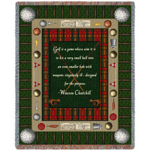 Sports - Winston Churchill Golf Quote - Tapestry Throw