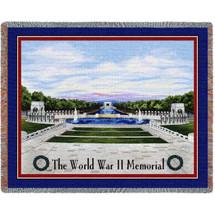 Washington DC  - World War II Memorial - Tapestry Throw