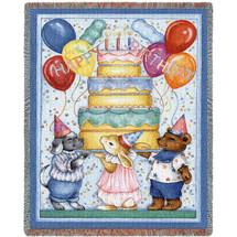 Happy Birthday - Tapestry Throw