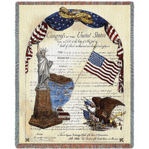 Freedom - United States Bill of Rights - Kayla Bookman - Cotton Woven Blanket Throw - Made in the USA (72x54) Tapestry Throw