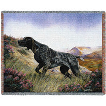 German Shorthaired Pointer - Robert May - Cotton Woven Blanket Throw - Made in the USA (72x54) Tapestry Throw