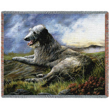 Scottish Deerhound - Robert May - Cotton Woven Blanket Throw - Made in the USA (72x54) Tapestry Throw