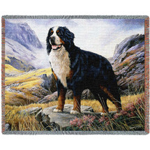 Bernese Mountain - Robert May - Cotton Woven Blanket Throw - Made in the USA (72x54) Tapestry Throw