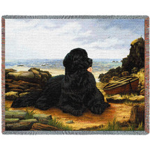 Newfoundland - Robert May - Cotton Woven Blanket Throw - Made in the USA (72x54) Tapestry Throw