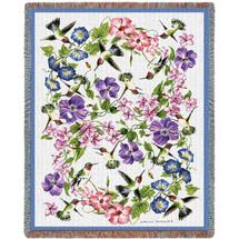 Hummingbirds - Tapestry Throw