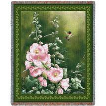 Hollyhock Hummer - Tapestry Throw