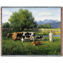 Country Girl - Tapestry Throw