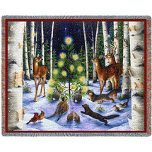 Christmas Magic - Lynn Bywaters - Cotton Woven Blanket Throw - Made in the USA (72x54) Tapestry Throw