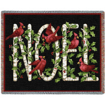 Christmas Noel - Stephanie Stouffer - Cotton Woven Blanket Throw - Made in the USA (72x54) Tapestry Throw