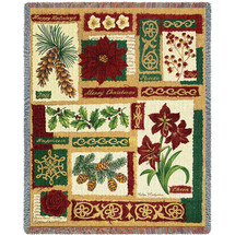 Christmas Collage - Helen Vladykina - Cotton Woven Blanket Throw - Made in the USA (72x54) Tapestry Throw