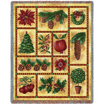 Images of Christmas - Helen Vladykina - Cotton Woven Blanket Throw - Made in the USA (72x54) Tapestry Throw
