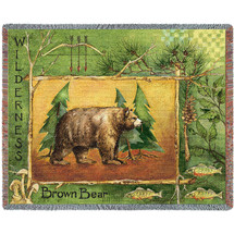 Brown Bear Lodge - Tapestry Throw