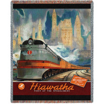 Hiawatha Train - Vintage Poster - Tapestry Throw