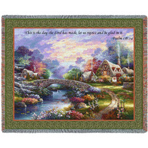 Springtime Glory - This Is The Day The Lord Has Made - Scriptures - Psalm 118:24 - Tapestry Throw