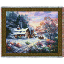 Snowy Evening - Tapestry Throw