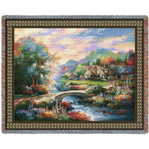 Country Bridge - Tapestry Throw