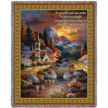Early Service - No Farewell Words Were Spoken No Time To Say Goodbye - Sympathy - Tapestry Throw