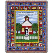School Days - Teacher Tapestry Throw