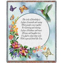 Circle Of Friendship Poem - Tapestry Throw