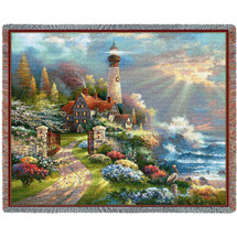 Coastal Splendor - James Lee - Cotton Woven Blanket Throw - Made in the USA (72x54) Tapestry Throw