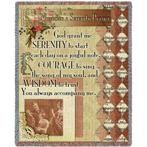 Musicians Serenity Prayer - Lisa Engelhardt - Cotton Woven Blanket Throw - Made in the USA (72x54) Tapestry Throw
