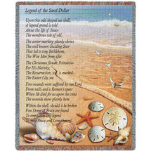 Legend of the Sand Dollar - Poem - Cotton Woven Blanket Throw - Made in the USA (72x54) Tapestry Throw