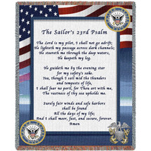US Navy - The Sailor's 23rd Psalm - Tapestry Throw