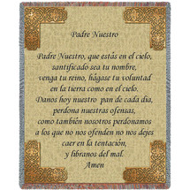 The Lord's Prayer in Spanish - Padre Nuestro - Tapestry Throw