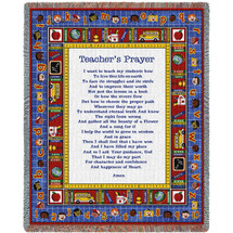 Teacher's Prayer - Cotton Woven Blanket Throw - Made in the USA (72x54) Tapestry Throw