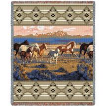 Wild Horses - Tapestry Throw