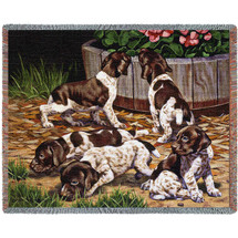 Common Scents Spainiel - Bob Christie - Cotton Woven Blanket Throw - Made in the USA (72x54) Tapestry Throw