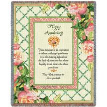 Happy Anniversary - Tapestry Throw