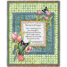 Nurse's Prayer - Audrey Jean Roberts - Cotton Woven Blanket Throw - Made in the USA (72x54) Tapestry Throw