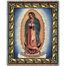 Our Lady Of Guadalupe - Nuestra Señora de Guadalupe - Symbol of Catholic Mexicans - Mexico - Tapestry Throw