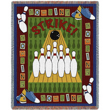 Sports - Bowling - Tapestry Throw