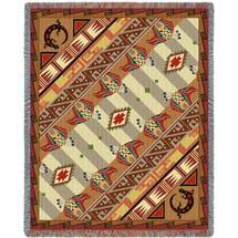 Western Slant Shadows - Tapestry Throw