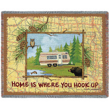Home is Where You Hook Up - Tapestry Throw