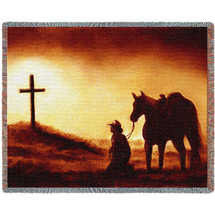 Reverence - Judith Durr - Cotton Woven Blanket Throw - Made in the USA (72x54) Tapestry Throw