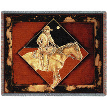 Late Night Express - Michael Swearngin - Cotton Woven Blanket Throw - Made in the USA (72x54) Tapestry Throw