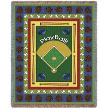 Sports - Baseball - Play Ball - Tapestry Throw