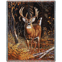 Bad Attitude Deer - Tapestry Throw