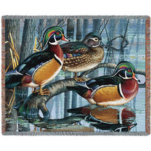 Backwater Woodies - Tapestry Throw