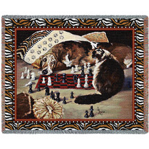 Your Move - Linda Budge - Cotton Woven Blanket Throw - Made in the USA (72x54) Tapestry Throw