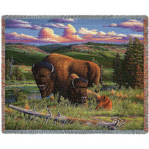 Buffalo Nation- Tapestry Throw