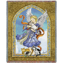 Angel and Cats - Tapestry Throw